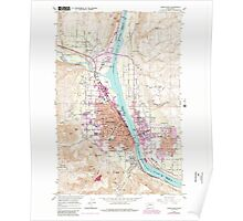 USGS Topo Map Washington State WA Wenatchee 244609 1966 24000 Poster