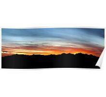Sunset over Keg Mt. Poster