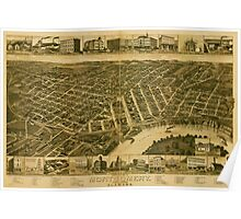 Panoramic Maps Perspective map of Montgomery State capital of Alabama Poster