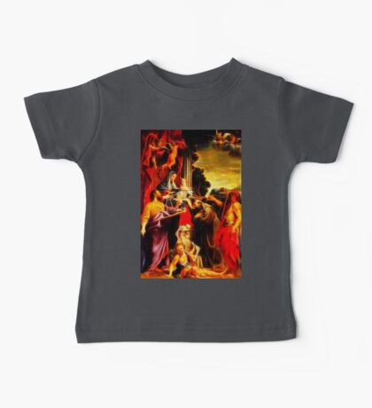 Madonna Enthroned with Saint Matthew Baby Tee
