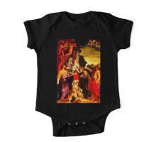 Madonna Enthroned with Saint Matthew One Piece - Short Sleeve