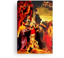 Madonna Enthroned with Saint Matthew Metal Print