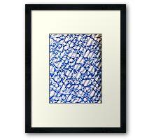 Blue wavy pattern vintage Framed Print
