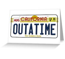 Back to the future Delorean License Plate Greeting Card