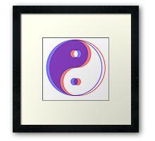 3D yin yang Framed Print