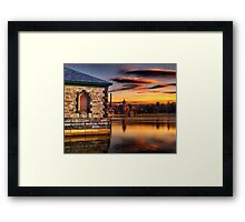 Sunset at Waterworks Museum Framed Print
