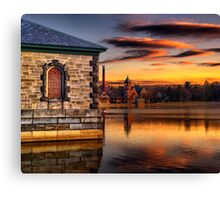 Sunset at Waterworks Museum Canvas Print