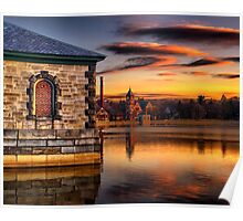 Sunset at Waterworks Museum Poster