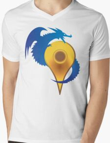 GOOGLE QUEST Mens V-Neck T-Shirt