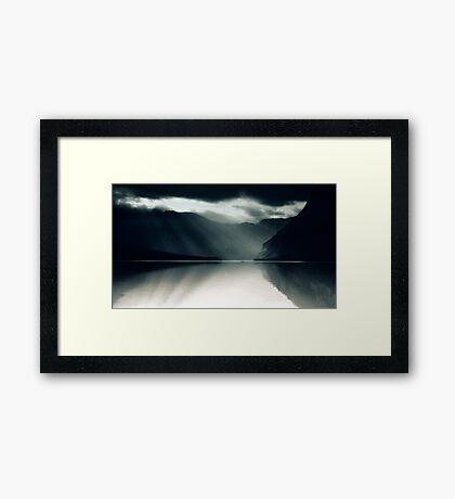 Two In A Boat - Lake Bohinj, Slovenia Framed Print