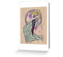 Spider Nouveau Greeting Card
