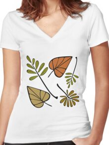 Changing Foliage Women's Fitted V-Neck T-Shirt