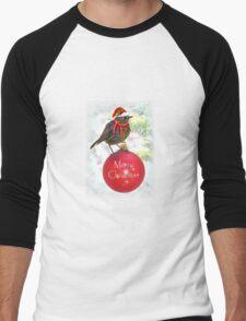 Ornamental Robin Men's Baseball ¾ T-Shirt
