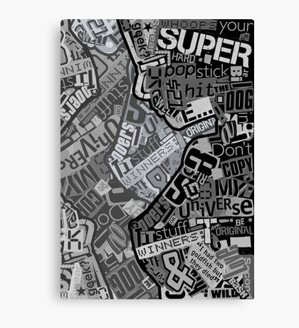 Typography Grayscale Canvas Print