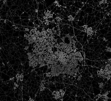 Birmingham map England by linelinelines