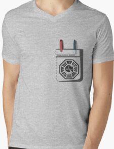Dharma Initiative Scientist Mens V-Neck T-Shirt
