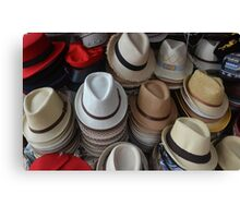 Men's hats Canvas Print