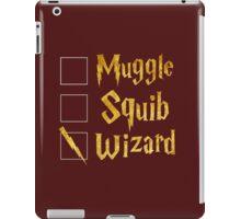 Harry Potter: Muggle, Squib, Wizard! iPad Case/Skin