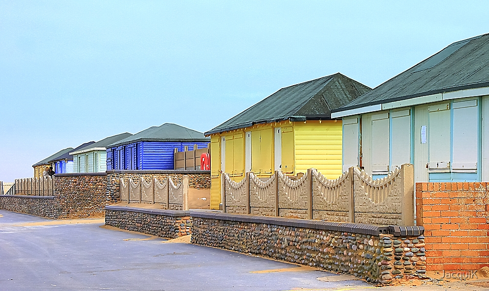 Beach Huts at Fleetwood by JacquiK