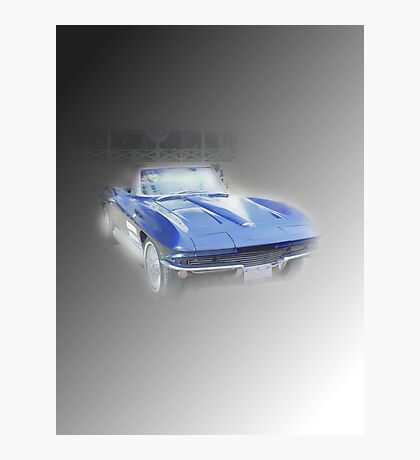 Blue Vette Photographic Print