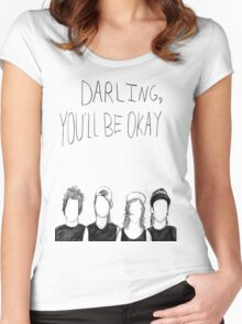 PTV- Darling You'll Be Okay Women's Fitted Scoop T-Shirt
