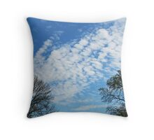 Trees Framing the Sky Throw Pillow