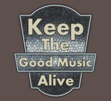 Vintage Keep The Good Music Alive Baby Tee
