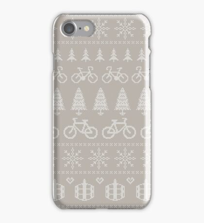 Christmas Cycling Jumper | Hessian/Mint iPhone Case/Skin