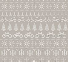 Christmas Cycling Jumper | Hessian/Mint by katecrashed