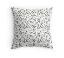 Sumi Ink Birds Pattern Throw Pillow