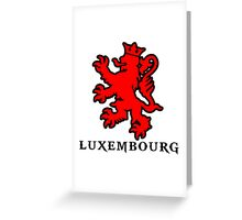 lion luxembourg crown  Greeting Card