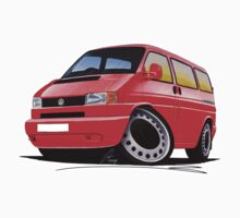 VW T4 Red by Richard Yeomans