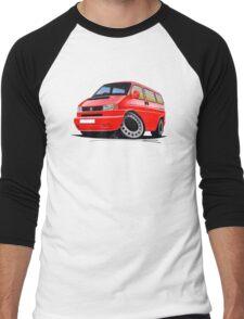 VW T4 Red Men's Baseball ¾ T-Shirt