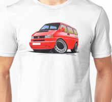 VW T4 Red Unisex T-Shirt