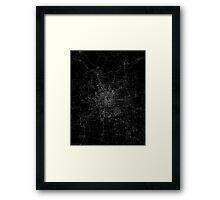 Beijing map china Framed Print