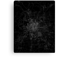 Beijing map china Canvas Print