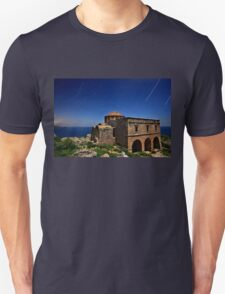 Startrails over Hagia Sophia - Monemvasia T-Shirt