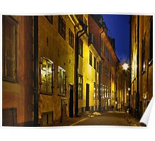 Street at night in Old Town. Poster