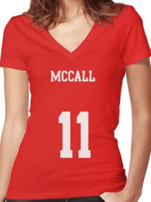 MCCALL - 11 Women's Fitted V-Neck T-Shirt