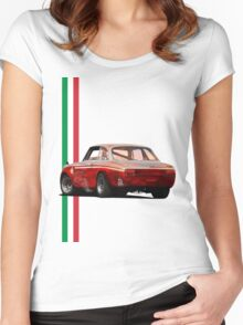 Alfa Romeo Giulia 1300 Junior GTA Women's Fitted Scoop T-Shirt