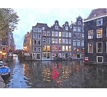 Canal Houses in Amsterdam, Holland Photographic Print