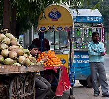 Delhi Fruit Stand by phil decocco