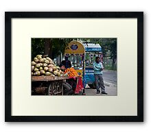 Delhi Fruit Stand Framed Print