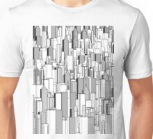 Tall city B&W Unisex T-Shirt