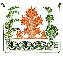 Floral Art Nouveau pattern Photographic Print