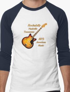 Rockabilly Nashville Tennessee  Men's Baseball ¾ T-Shirt