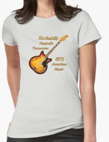 Rockabilly Nashville Tennessee  Womens Fitted T-Shirt