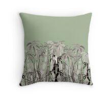 Sumi Ink Bamboo  Throw Pillow