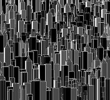 Tall city B&W inverted by GrandeDuc