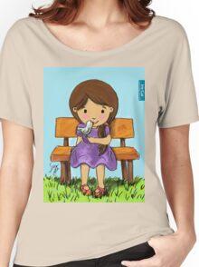 Girl with Bird / Iris Gat Women's Relaxed Fit T-Shirt